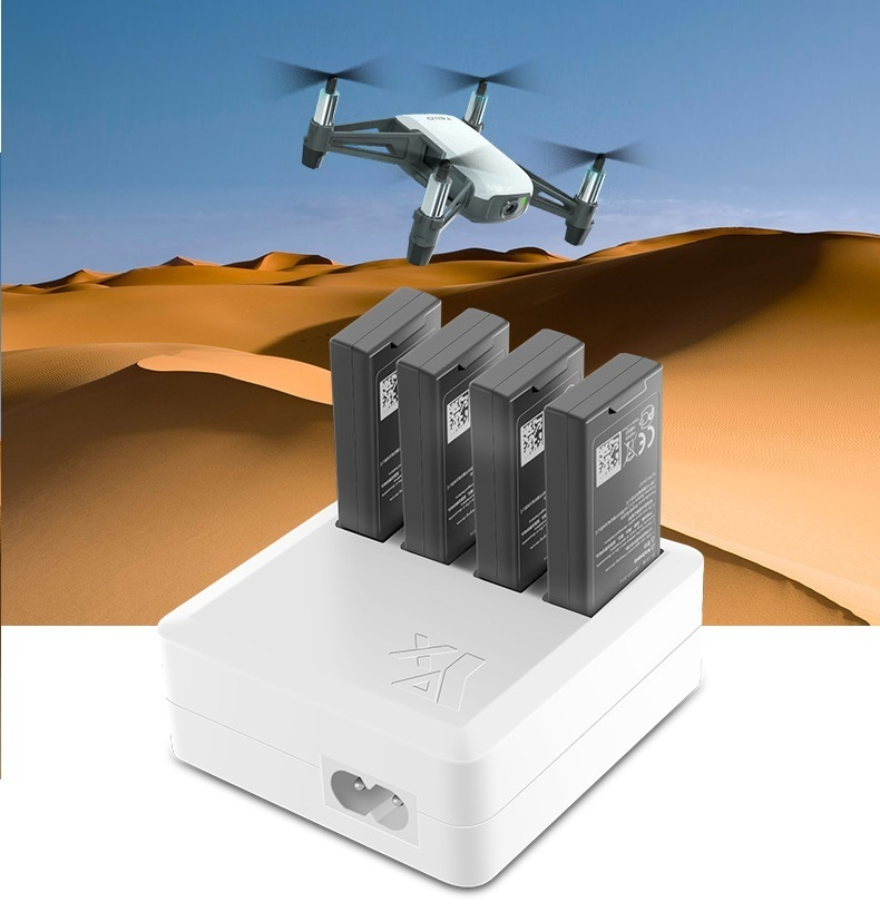 TELLO Charger 4 in 1 Multi Battery Charging Hub for DJI TELLO Drone Intelligent Flight Battery Quick Charging US/EU Plug