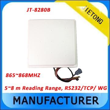 Lecteur RFID UHF lecteur de moyenne portée 5-8 M + sdk gratuit + 5 étiquettes gratuites (RS232/tcp/ip/WG26) Communication