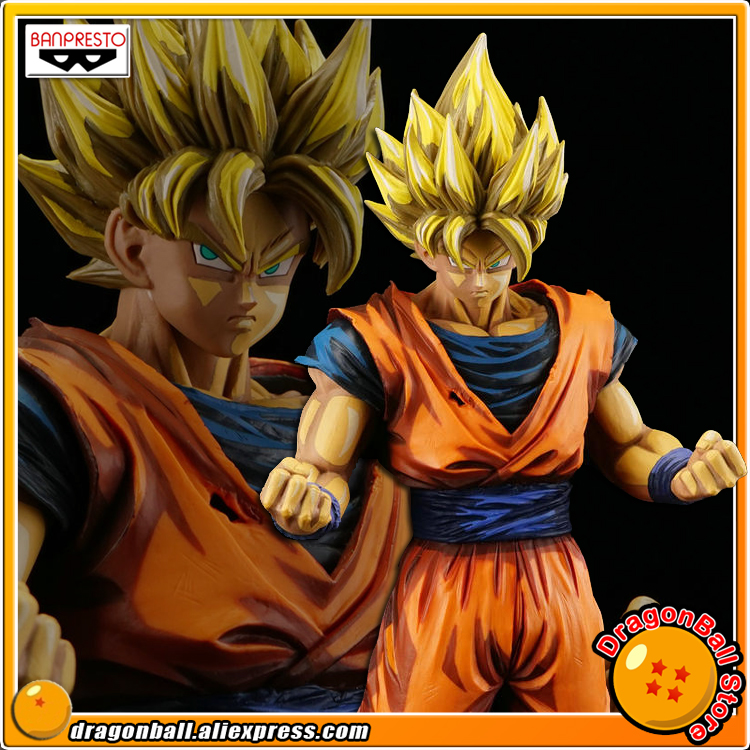 Japan Anime Dragon Ball Z Original Banpresto Grandista Collection Figure - SUPER SAIYAN SON GOKU Manga Dimensions sale original banpresto ros resolution of soldiers grandista collection figure super saiyan son goku gokou dragon ball z 28cm