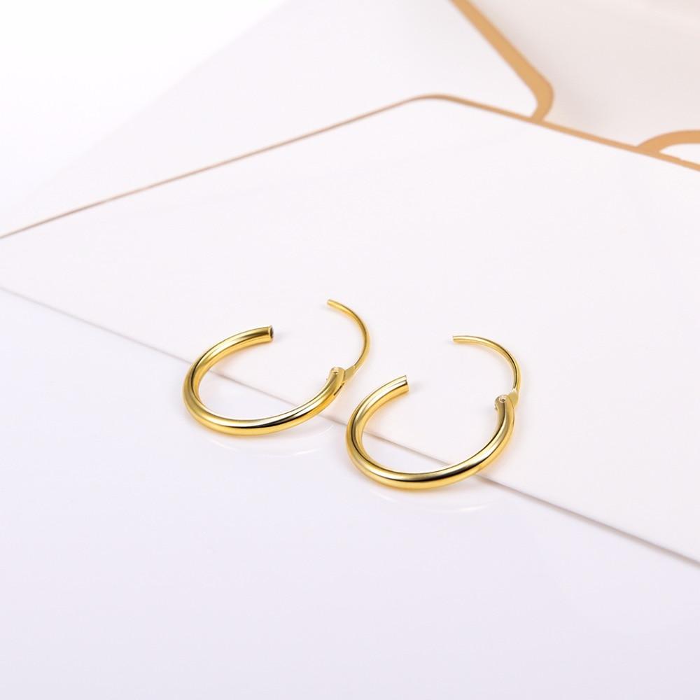 Արծաթագույն ոսկե գույնի կլոր - Նուրբ զարդեր - Լուսանկար 2