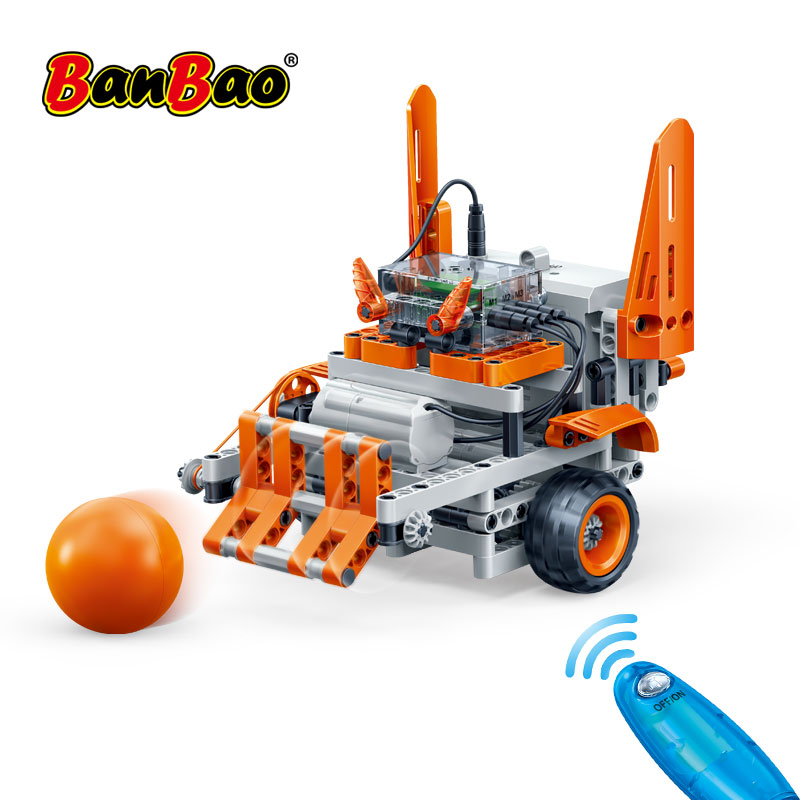 Experiência Técnica De Detecção De Movimento do Controle Remoto do Robô BanBao Tijolo Modelo Educacional Blocos de Construção de Brinquedo Das Crianças Das Crianças 6925