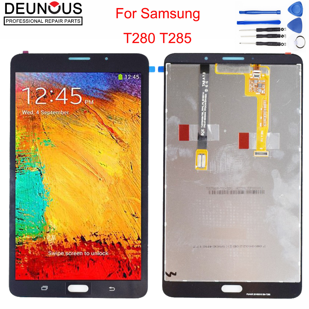 New For Samsung Galaxy Tab A 7.0 T280 T285 LCD Display Monitor + Touch Panel Screen Glass Digitizer Assembly Replacement FreeSIP for chi mei 7inch lw700at9003 lcd screen display panel 800 480 40 pins digitizer monitor replacement