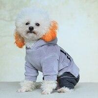 Nicrew Moda Sonbahar Ve Kış Köpek Giysileri Küçük Köpekler Chihuahua Için ceket Için Kedi Köpek Sıcak Coat Yumuşak Pamuk Pet Giyim S-XL