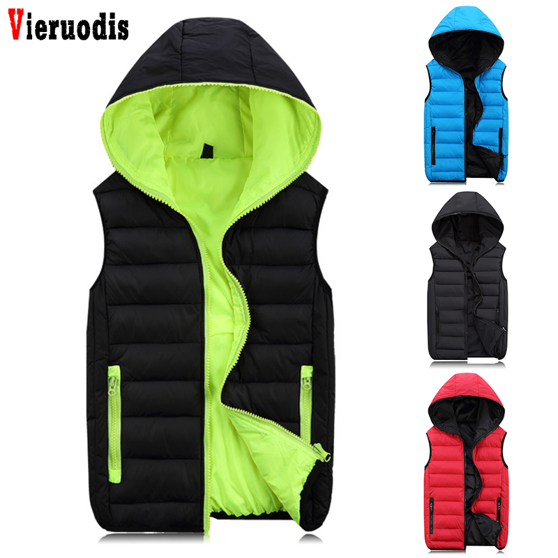Spring For Men Casual Fashion Warm Sleeveless Jacket Mens Work Vests Coats Hooded Male Winter Vest Light Plus Size 4XL Waistcoat