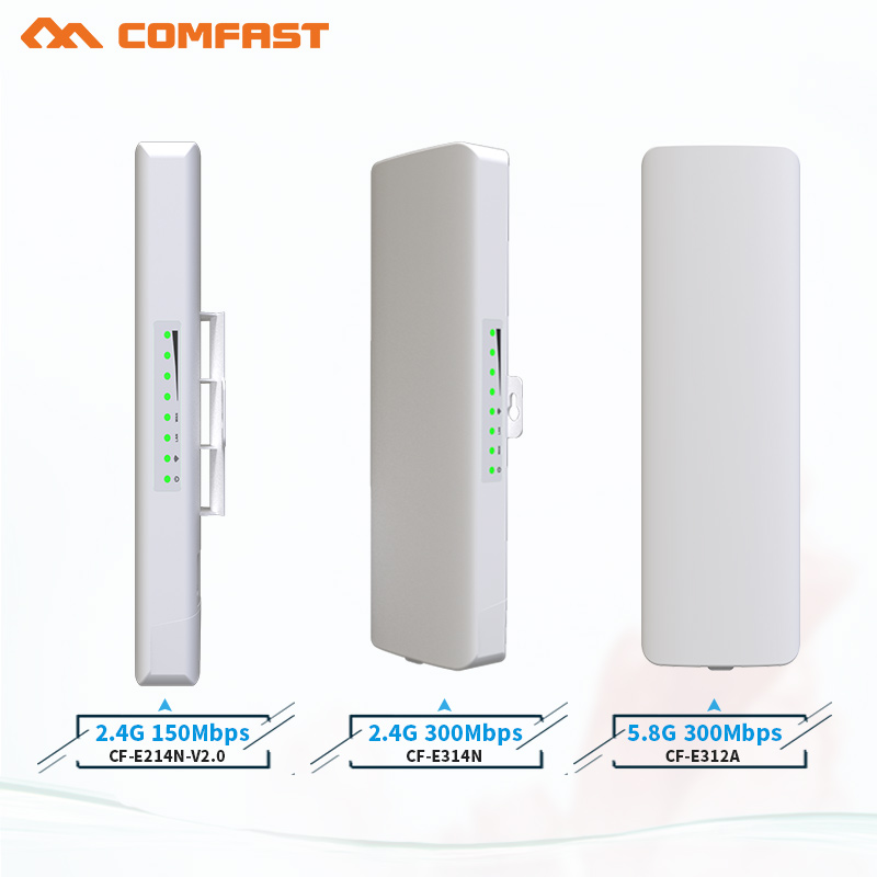 comfast 2.4G&5G Outdoor wireless bridge CPE router for remote wi-fi Signal transmission/receiver wi fi extender repeater antenna