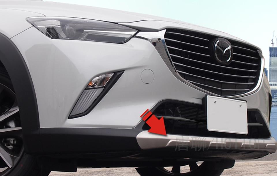 Steel Front Rear Bumper Protector Skid Plate Guard for Mazda CX-3 CX3 2015-2018
