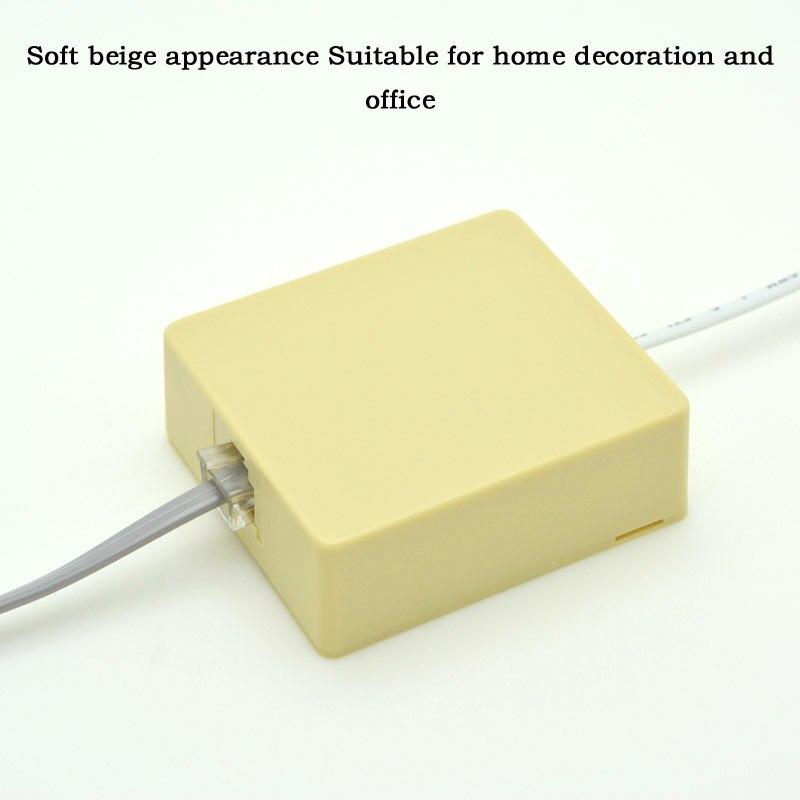 1-poorts desktop telefoonaansluitdoos aansluitkabel CAT3 verlengkabel - Computer kabels en connectoren - Foto 6