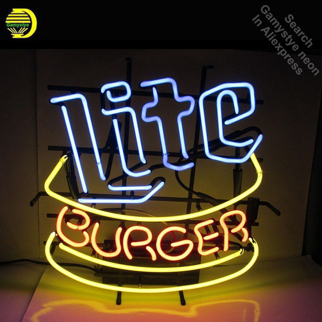 neon light up signs fashion neon sign for miller lite burger room display custom design restaurant shop light signs neon signs