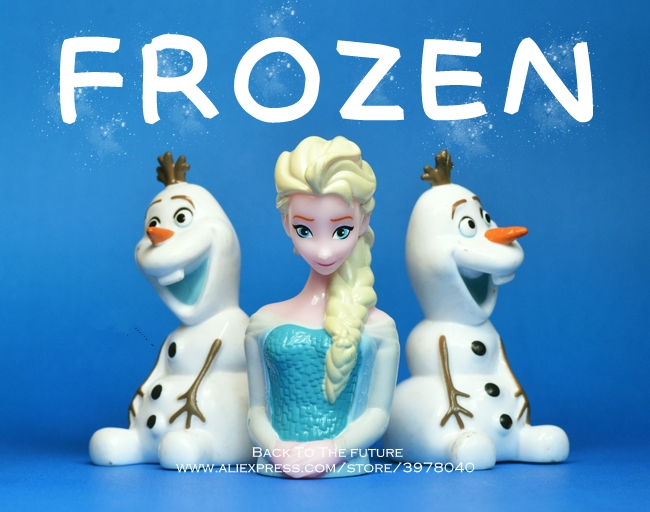 Disney Frozen Elsa princess Olaf 9cm mini doll Action Figure Posture Anime Decoration Collection Figurine Toy model for children