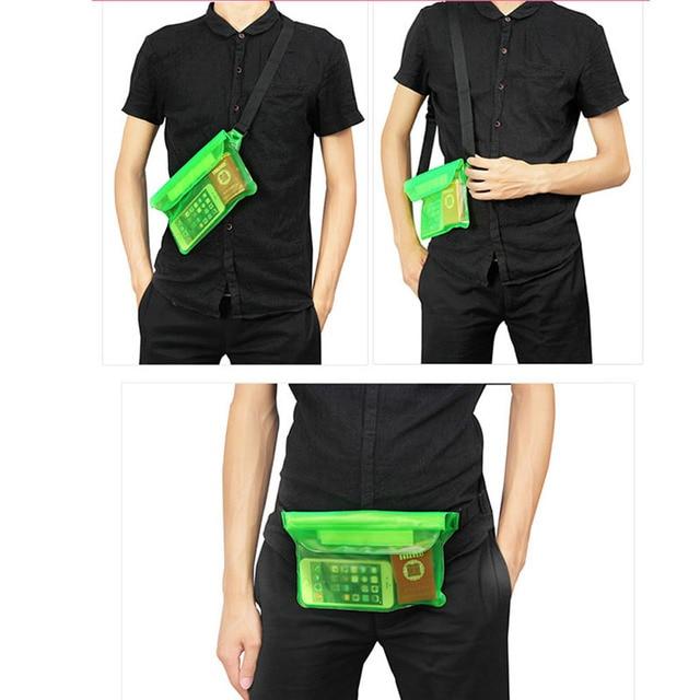 Waterproof Swimming Bag Ski Drift Diving Shoulder Waist Pack Bag Underwater Mobile Phone Bags Case Cover For Beach Boat Sports 5