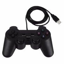 BEESCLOVER siyah oyun konsolu hediye Gamepad USB oyun denetleyicisi oyun Joypad joystik kumanda için PC bilgisayar dizüstü oyun r29