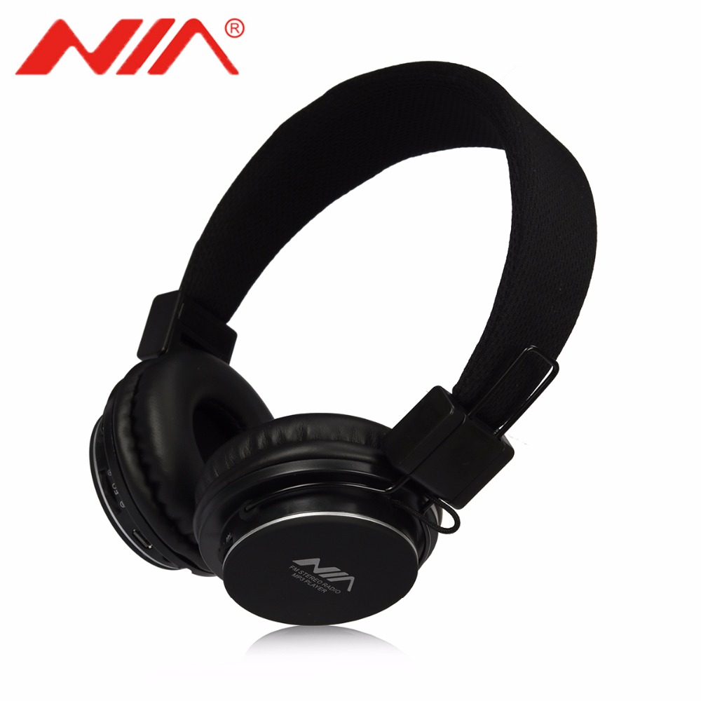EQ Stereo Headphones NIA 8820 Original Free Shipping Foldable Sport Support TF Card FM Radio Earphone nia 1682s original stereo headphones 10 colors collapsible music player portable headset support tf card fm radio free shipping