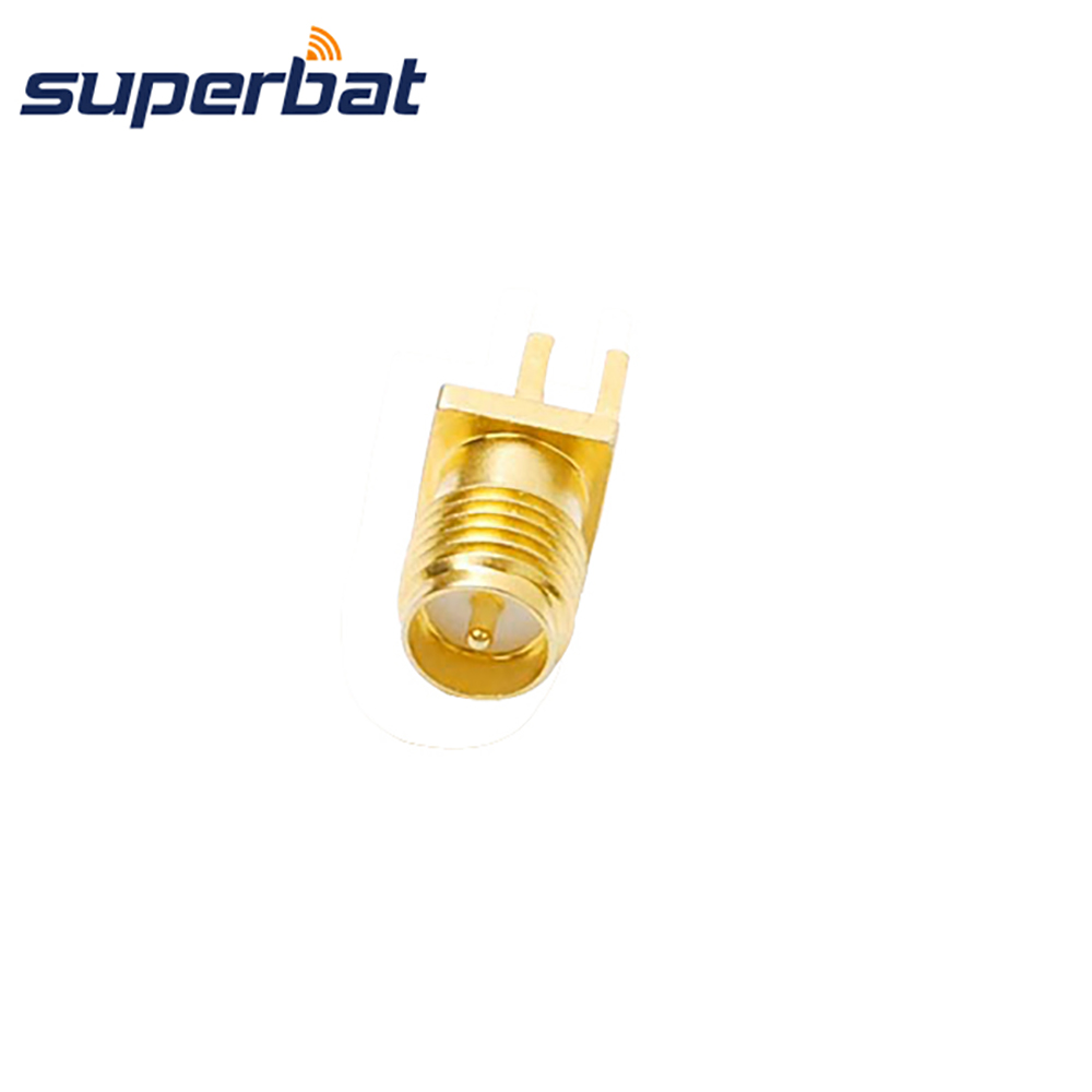 Superbat RP-SMA Jack(male pin) End Launch PCB Mount Solder Post Terminal Straight RF Coaxial Connector PC/LAN Antennas