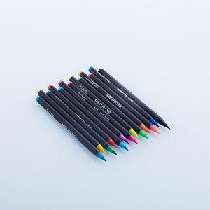 Image 4 - Акварельные ручки 20 цветов, художественные маркеры для школьных принадлежностей, канцелярские принадлежности для рисования, раскрашивания, манги, комиксов, каллиграфии