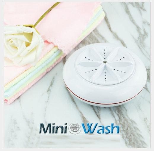 Free Shipping Ultrasonic Turbo Washer Portable Travel Laundry Reverse Turbine Spin Mini USB Single-shift Switch