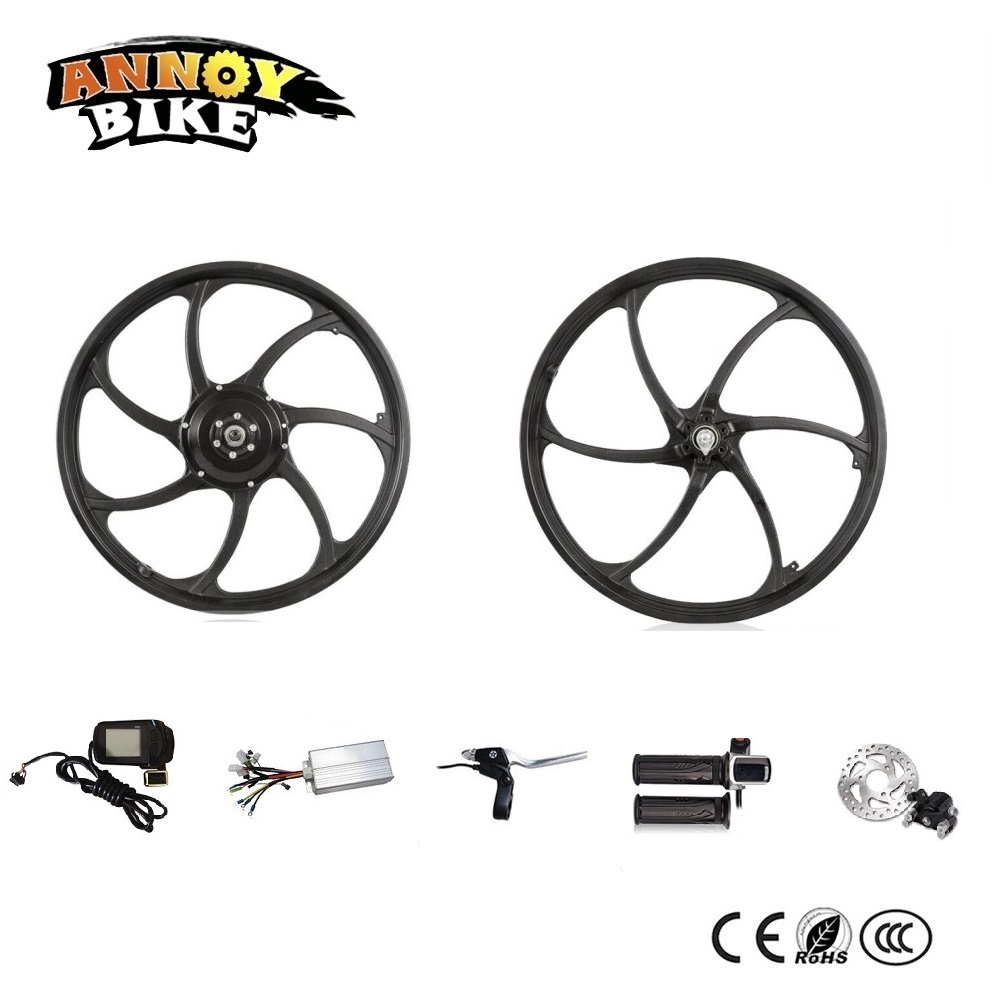 New One Wheel Design Front& Rear Hub Motor Kit 20 Rear Drive Electric Scooter Kit Electric Folding Bike Kit 40km h 4 wheel electric skateboard dual motor remote wireless bluetooth control scooter hoverboard longboard