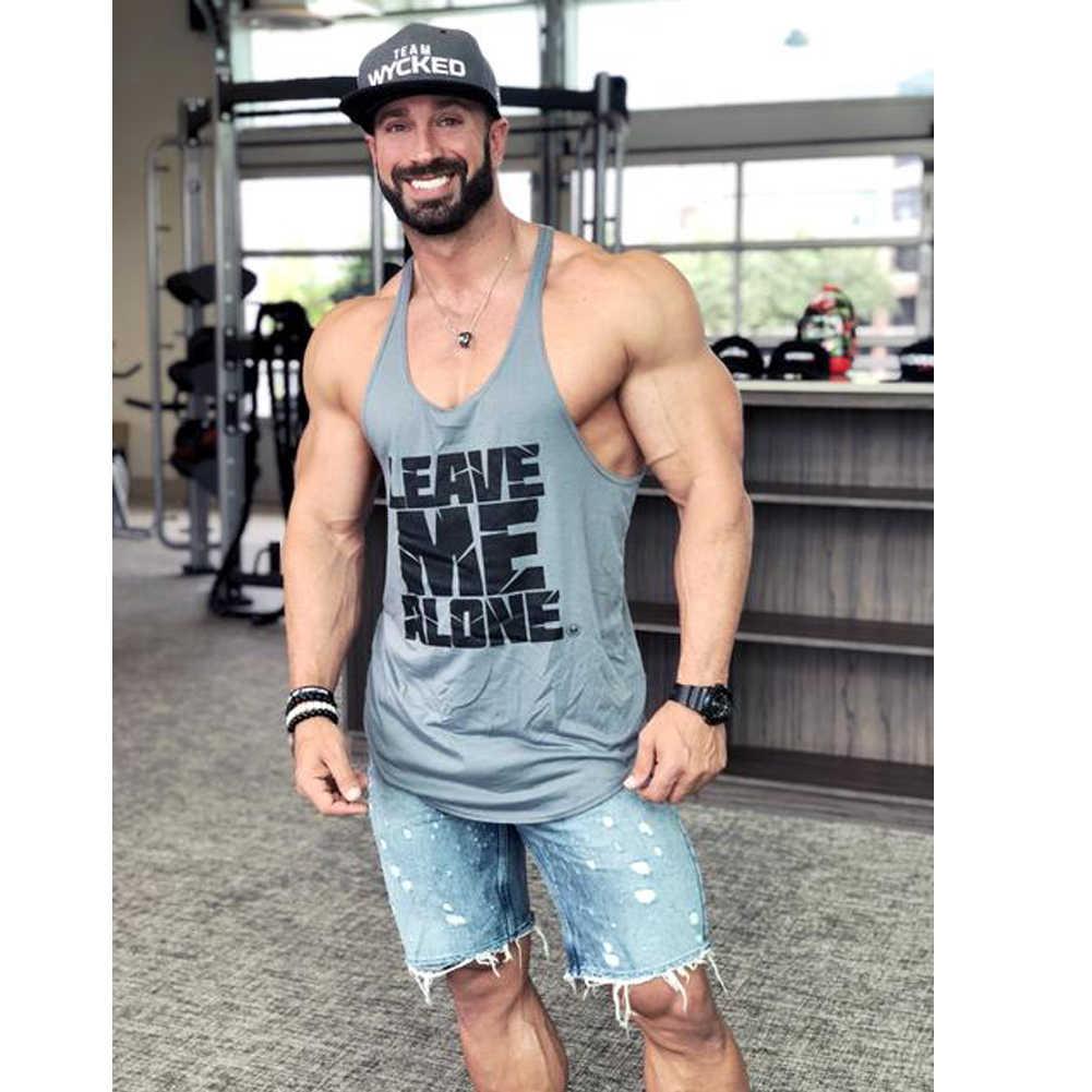 2019 العلامة التجارية الجديدة نمط M-2XL اللياقة البدنية الرجال العضلات أكمام تانك الأعلى المحملة قميص كمال الاجسام سترة رياضية