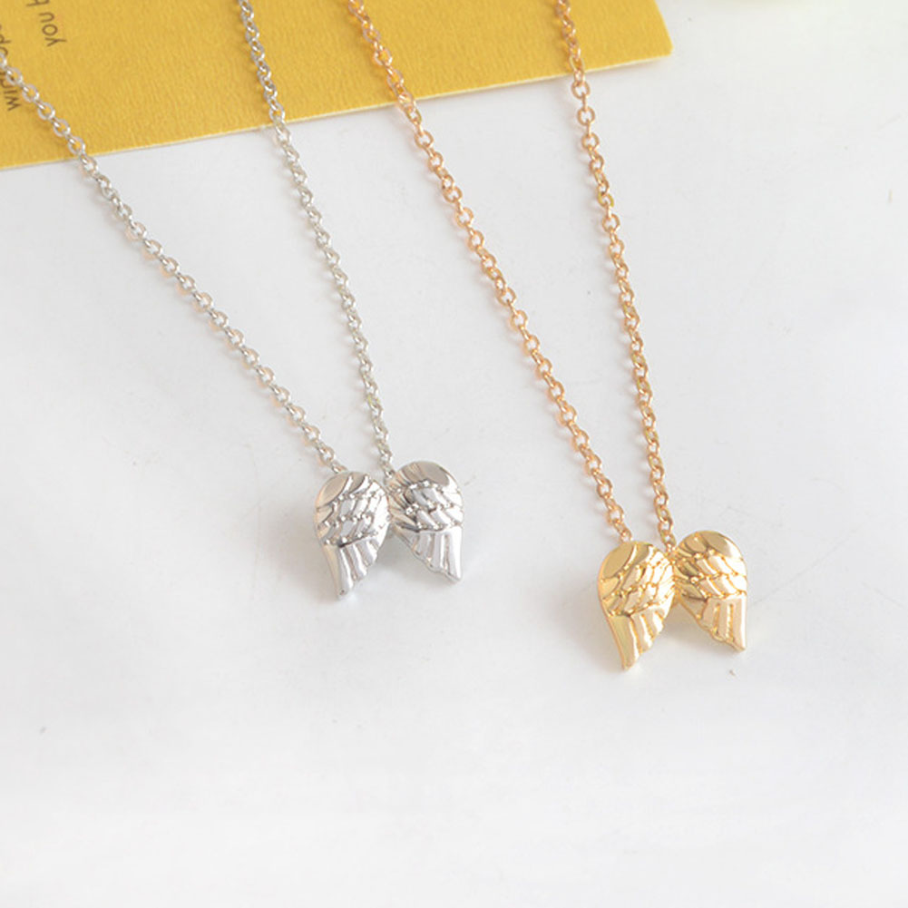 Hot Sale Guardian Angel, Angel Wings Gold Color Pendant Necklace Clavicle Chains Statement Necklace Women Jewelry