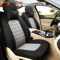 18PCS Set Linen Fabric Seat Covers For Renault Latitude Accessories For Cars Seat Cover Cushion Protection