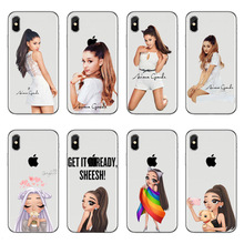 For iPhone XR XS Max Phone Case American sexy singer Ariana Grande soft Silicone Coque Cover 5S SE 6 6S 7 8 Plus X