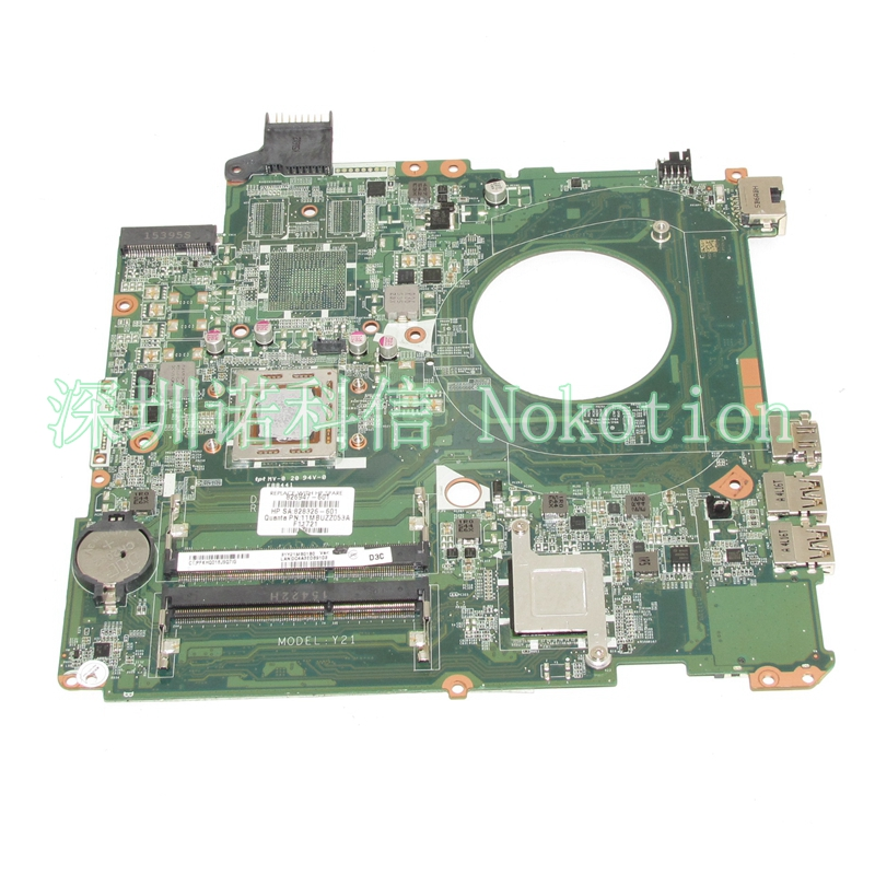 NOKOTION 828326-601 826947-601 826947-001 Laptop motherboard For HP Pavilion 15-P DAY21AMB6D0 15 inch A10-7300M CPU works nokotion 809986 601 809986 001 laptop motherboard for hp pavilion 17 p day21amb6d0 a10 7050m cpu ddr3 mainboard full works