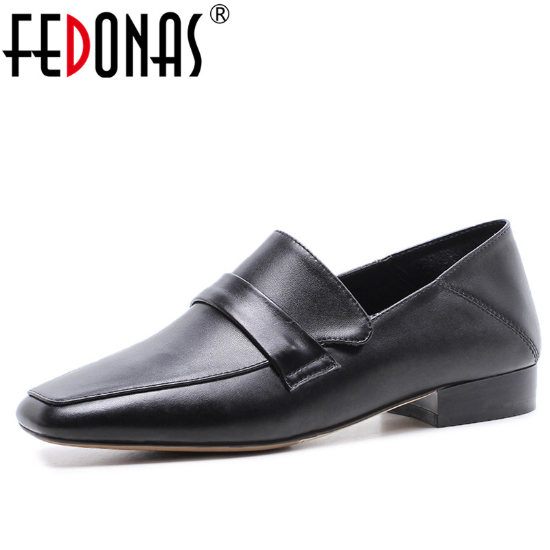 FEDONAS Retro Women Genuine Leather Flats Shoes New Two Ways Casual Shoes Soft Leather Comfortable Loafer Flats Shoes Woman цена 2017