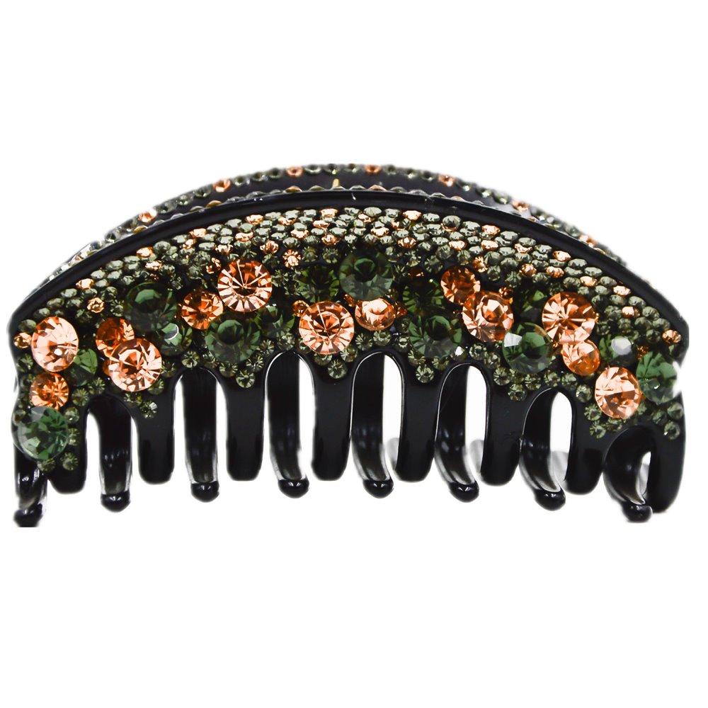 Grandes Griffes De Cheveux pour les Femmes Pont Forme Plein Cristal Cheveux Clip Cheveux Porter 10 cm