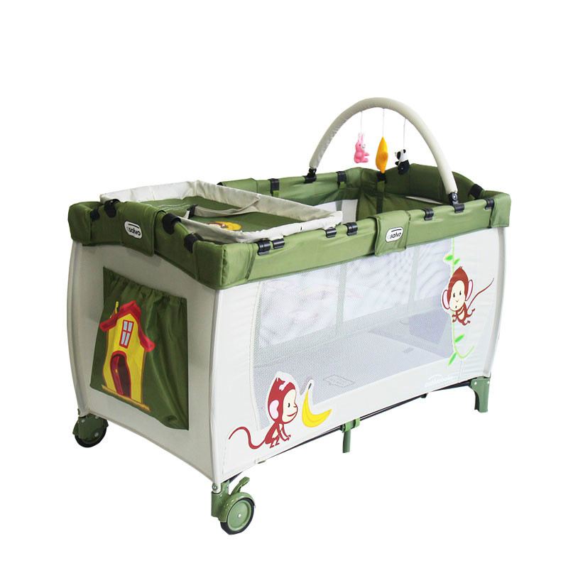 European style crib game bed foldable export baby bed bed with multi-purpose children's bed