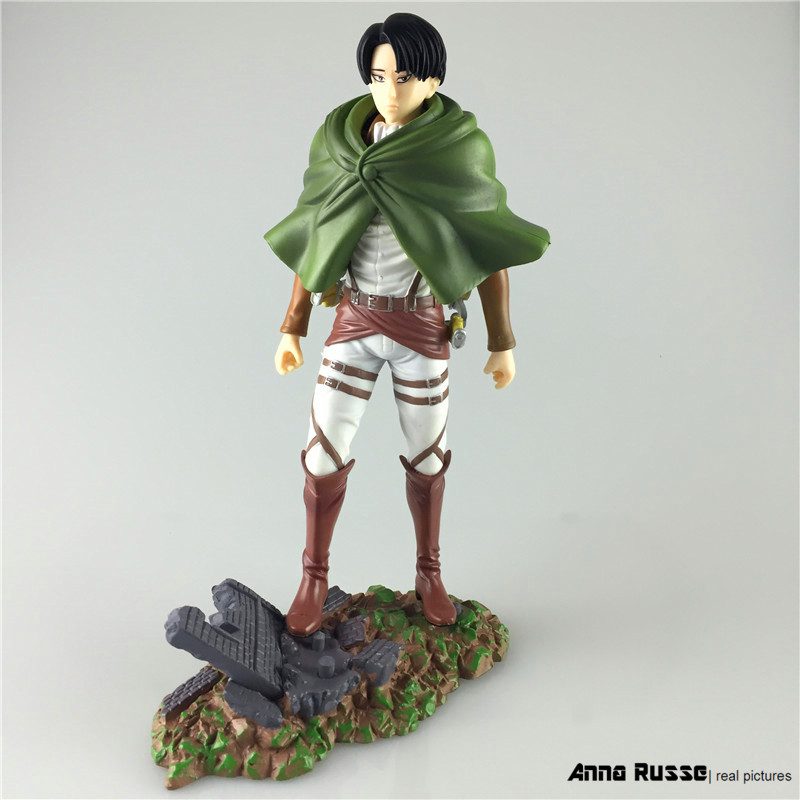 Attack on Titan Anime Figurine Shingeki No Kyojin Juguetes Levi Rivaille 25cm PVC Action Figure Model Collection Model Toys trendy japaness anime 4 7 12cm shingeki no kyojin mikasa ackerman pvc figure figurine toys gift attack on titan