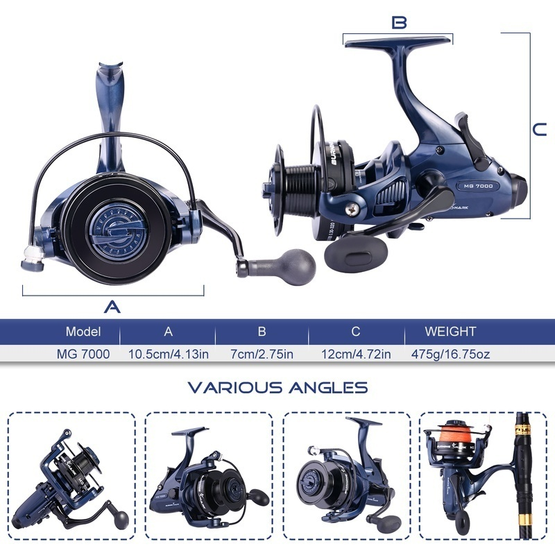 Reel Reels Fishing Kinds Carp Quality Professional High 2 with Spinning Wheel Spool Sougayilang 2