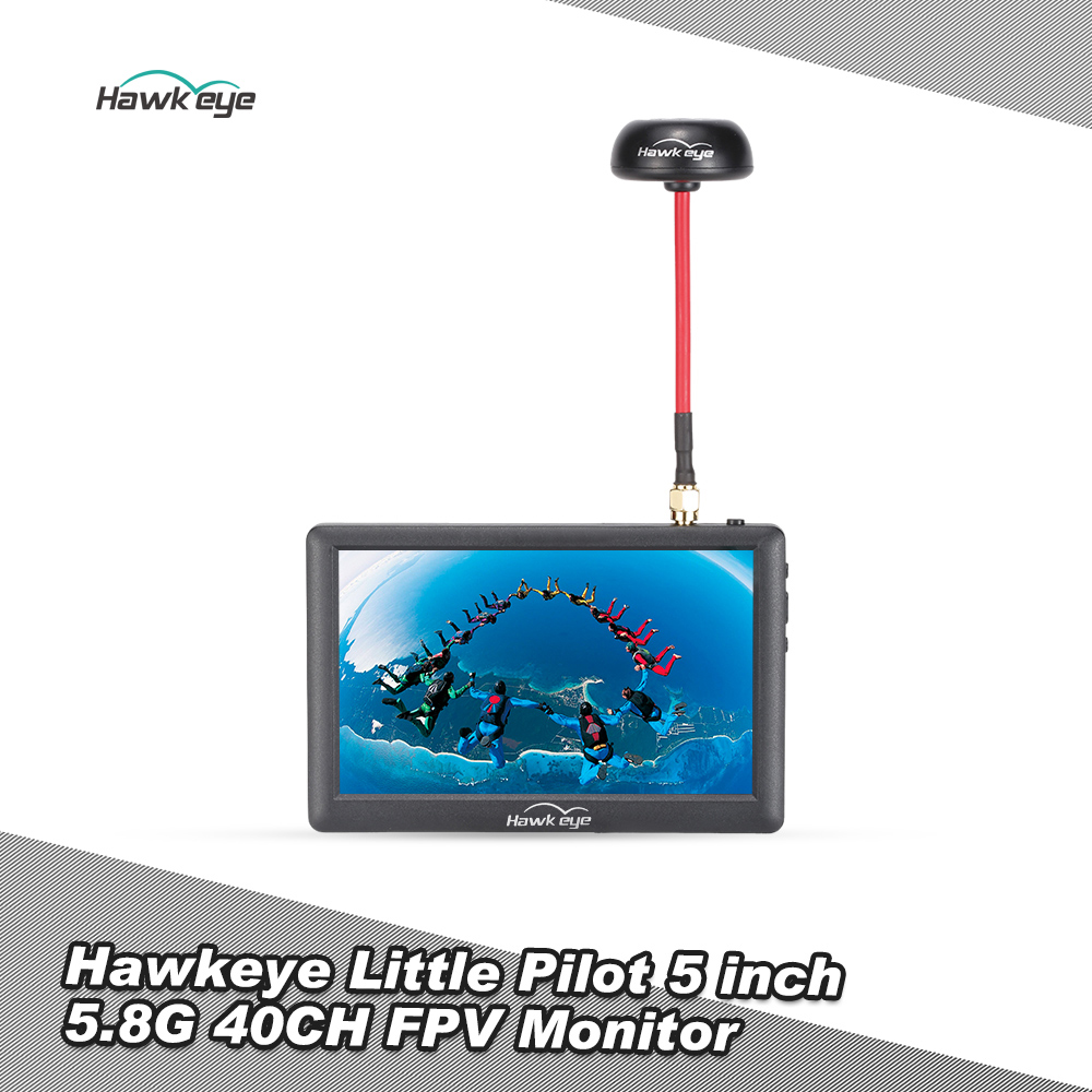 Little Pilot 5 inch High Definition HD 5.8G 40CH FPV Monitor for QAV250 Racing Drone DIY Quadcopter Aerial Photography Display Best Offer