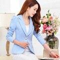 2016 verão quente vender moda elegante formal do negócio ternos desgaste do escritório mulheres manga rosa preto branco blazer terno