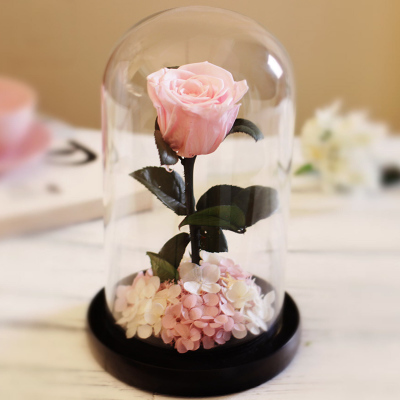 Creative Glass Roses Flowers Fresh Preserved Rose Flower Wedding Home Birthday Party Car Decoration