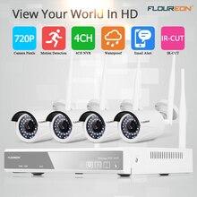 4CH беспроводной CCTV 1080 P DVR комплект открытый wi-fi/WLAN 720 P IP камера безопасный видеорегистратор система NVR ЕС