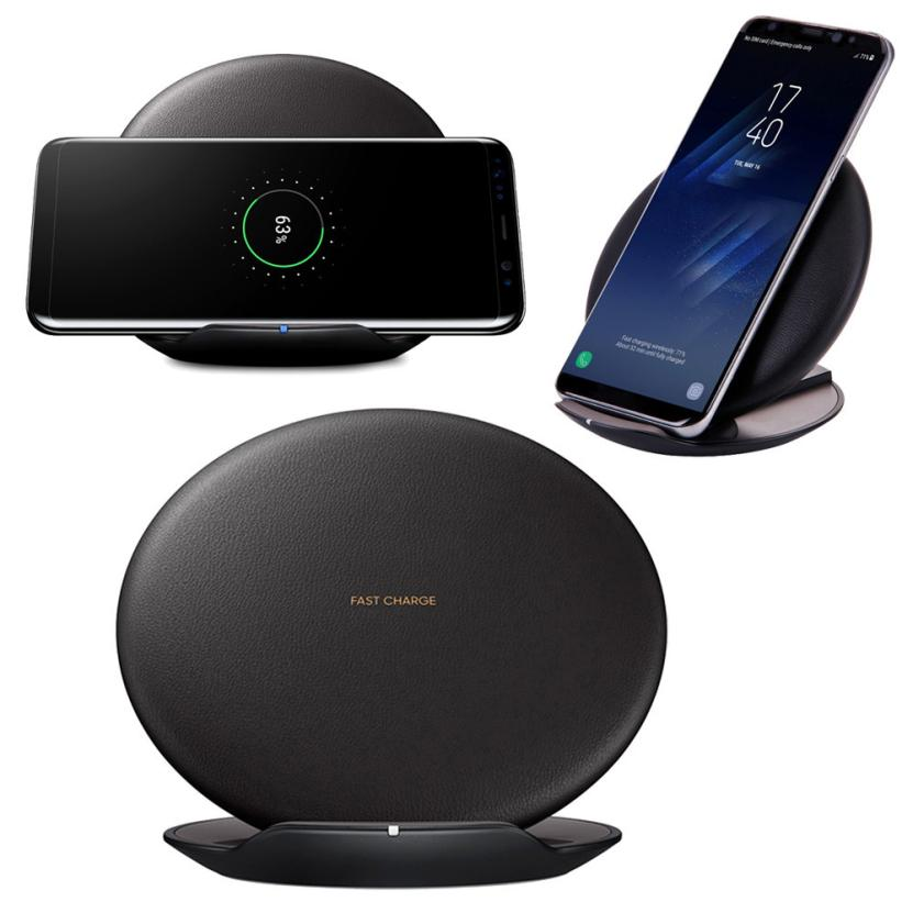 HL 2017 Fast Wireless Charger Rapid Charging Stand for Samsung Galaxy S8 / S8 Plus drop shipping jul31 E22 #5