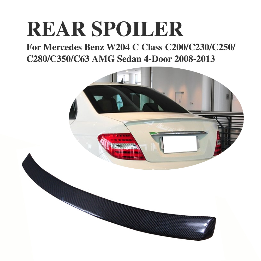 Carbon Fiber Rear Roof <font><b>Spoiler</b></font> Tail Window Wing for <font><b>Mercedes</b></font> <font><b>Benz</b></font> <font><b>C</b></font> <font><b>Class</b></font> <font><b>W204</b></font> Sedan 4-Door 2008-2013 Car Accessories image