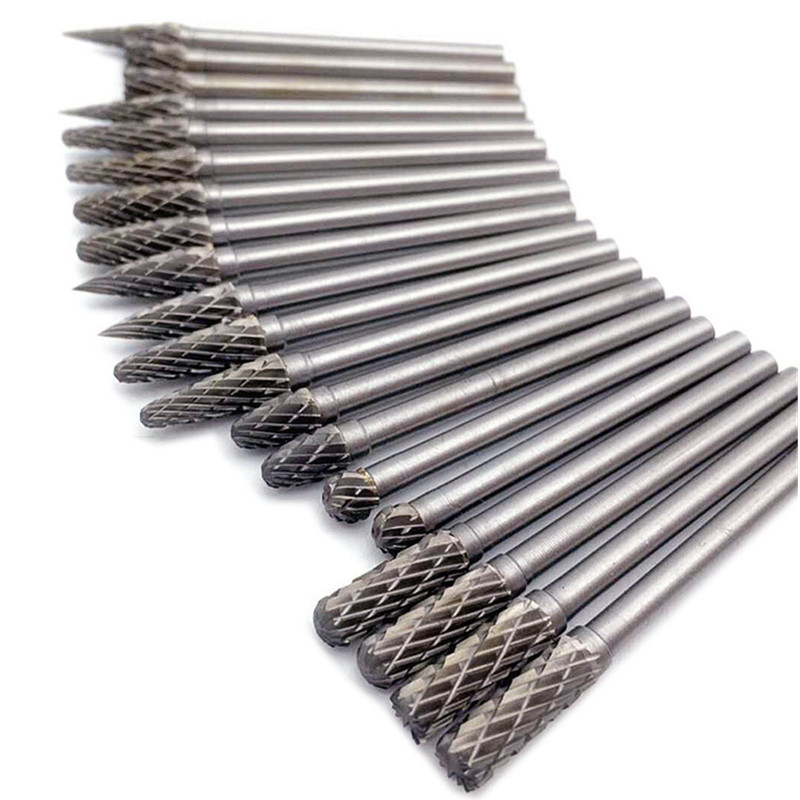 20Pcs Electric Grinding Rotary Burrs Set Accessories Tungsten Steel Carbide Milling Cutter For Rotary Tools Engraving Bits 10 pieces sanying 3mm handle tungsten steel grinding head carbide burrs rotary file high quality