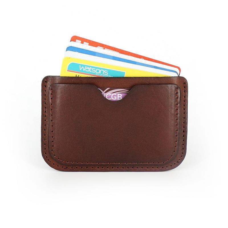 2018 Äkta Läder Kort & ID Hållare Case Ultra Thin Business Card - Plånböcker - Foto 4
