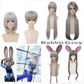Christmas gifts ECVTOP Zootopia/Zootropolis Judy Saida Cosplay Rabbit  Bunny Grey Hair Wig For Cute Girl