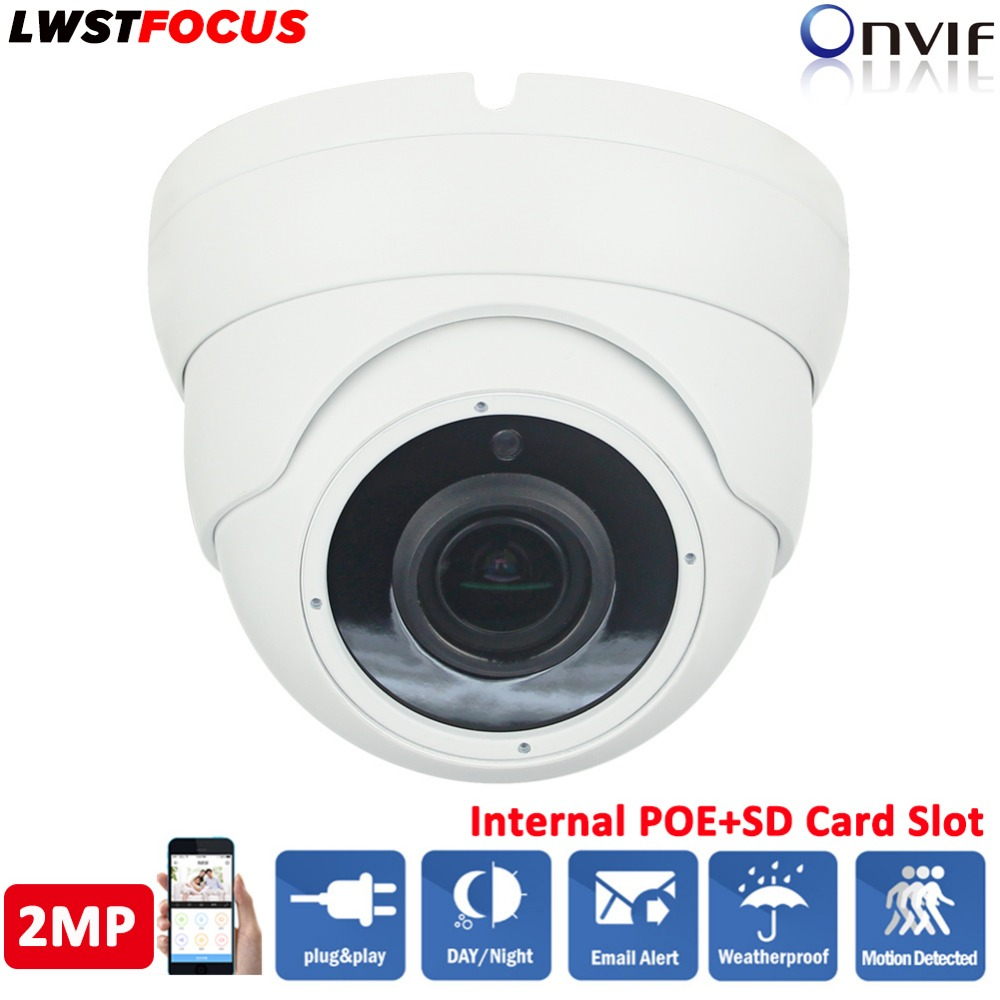 1080P HD Dome IP Camera 2MP Realtime 30fps Network Waterproof Sony IMX323 CMOS Sensor H.264/265 Night Vision IR-Cut Night IR 30M