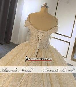 Image 5 - Роскошное бальное платье с открытыми плечами, свадебное платье, Аманда новиас, 2020