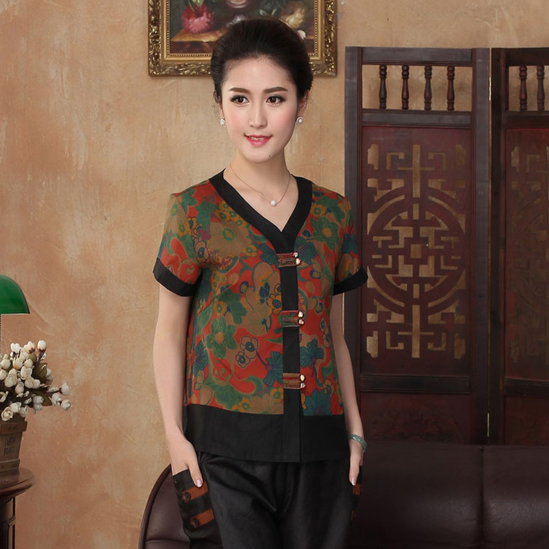 Shirtsilkworm Mujer Femelle 100Soie Femmes Traditionnelle Tops Tyr2302 Renoncule Camisa Chemise Chinois Blouse Blusa rCWdoQexB