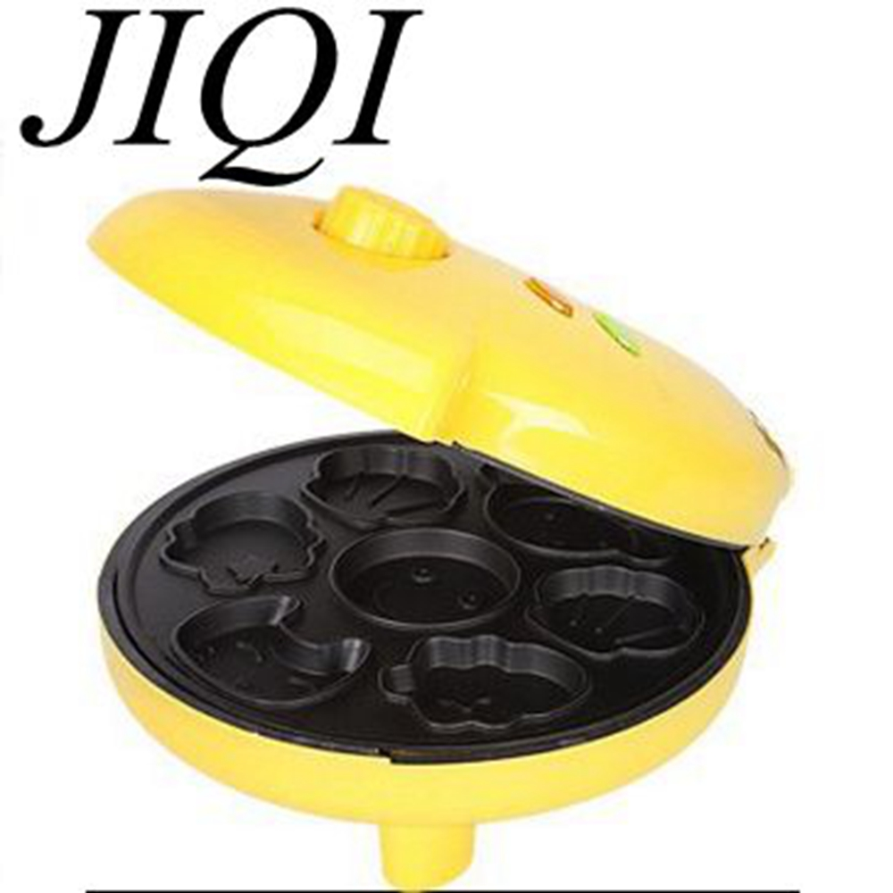 JIQI Cartoon Mini electric baking pan pancake cake maker home baked muffins automatic multifunction machine jiqi baking pan suspended double side heating pancake machine flapjack cake household electric barbecue pie machine 1200w
