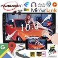 8 1 Универсальное автомобильное радио  GPS навигация 2 din 10 дюймов Android WIFI Bluetooth MP5 Плеер DVD плеер