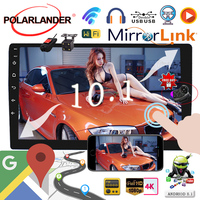 8.1 universal Car Radio GPS NAVIGATION 2 din 10 inch Android WIFI Bluetooth MP5 Player DVD Player