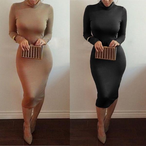 Turtleneck Bandage Dress