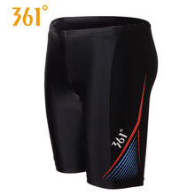 361 Mens Five-point Boxer Trunks Professional Swimming Sports Quick Drying Pants Breathable Athletic Swim Short