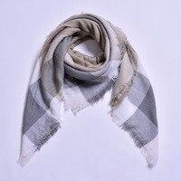 Winter Autumn Women Scarves Women Scarf Long Wraps Shawls Thick Warm Cotton Cashmere Wool Plaid Women's Scarf 10 Pieces/Set