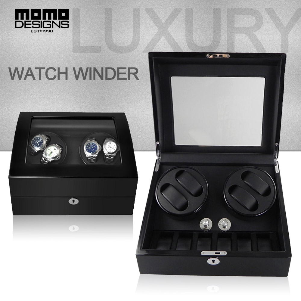 Luxury Rotation watch winder for 4+6 watches JAPAN motor automatic industrial winder box Watch Machine -2017 new design 110v automic test cyclotest watch tester watch test machine watch winder for watches