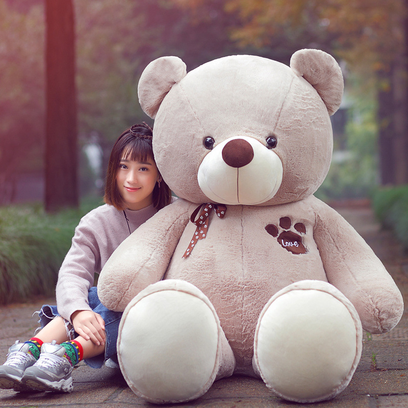 New Arrival Big Size Teddy Bear Plush Toy LOVE Bear Stuffed Animal Bear's Paw Teddy Bear Valentine's Gift stuffed animal 120 cm cute love rabbit plush toy pink or purple floral love rabbit soft doll gift w2226